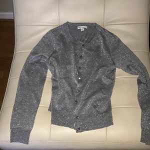 New York & company button down small sweater mint